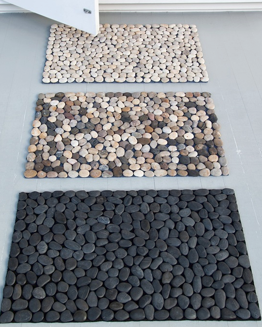 Spa pebble mat you can diy from dollar store materials allcreated diy spa pebble mat solutioingenieria Image collections
