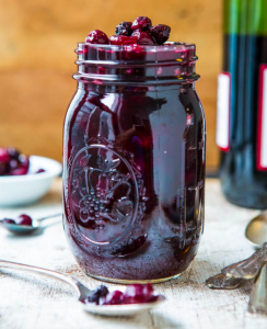 allcreated - cabernet cranberry and blueberry sauce