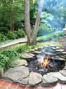 allcreated - pond into a fire pit