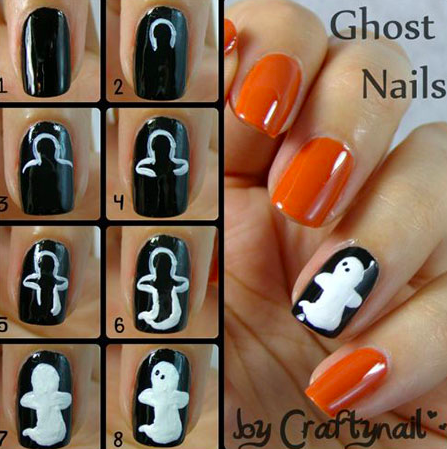 13 DIY Halloween Nail Art Tutorials Are Scary, Creepy ...