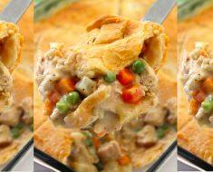 allcreated - chicken pot pie casserole