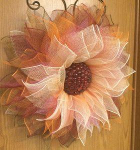 allcreated - deco mesh sunflower