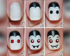 allcreated - diy halloween nail art