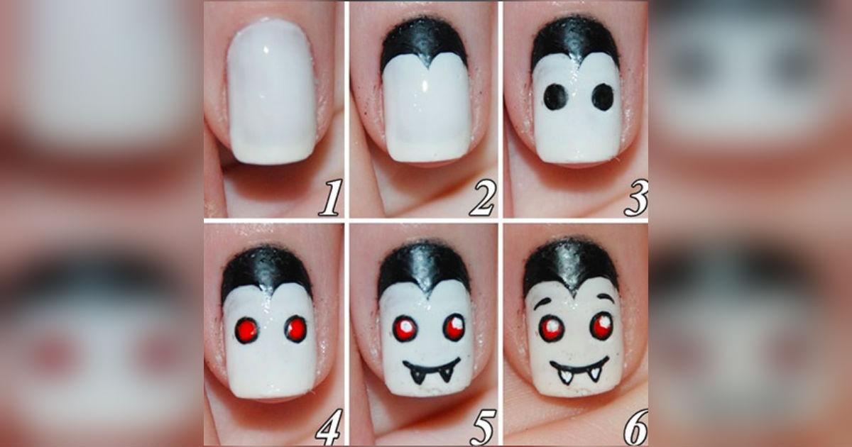 13 DIY Halloween Nail Art Tutorials Are Scary, Creepy ...