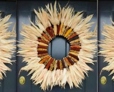 allcreated - indian corn wreath