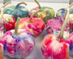 allcreated - nail polish pumpkins