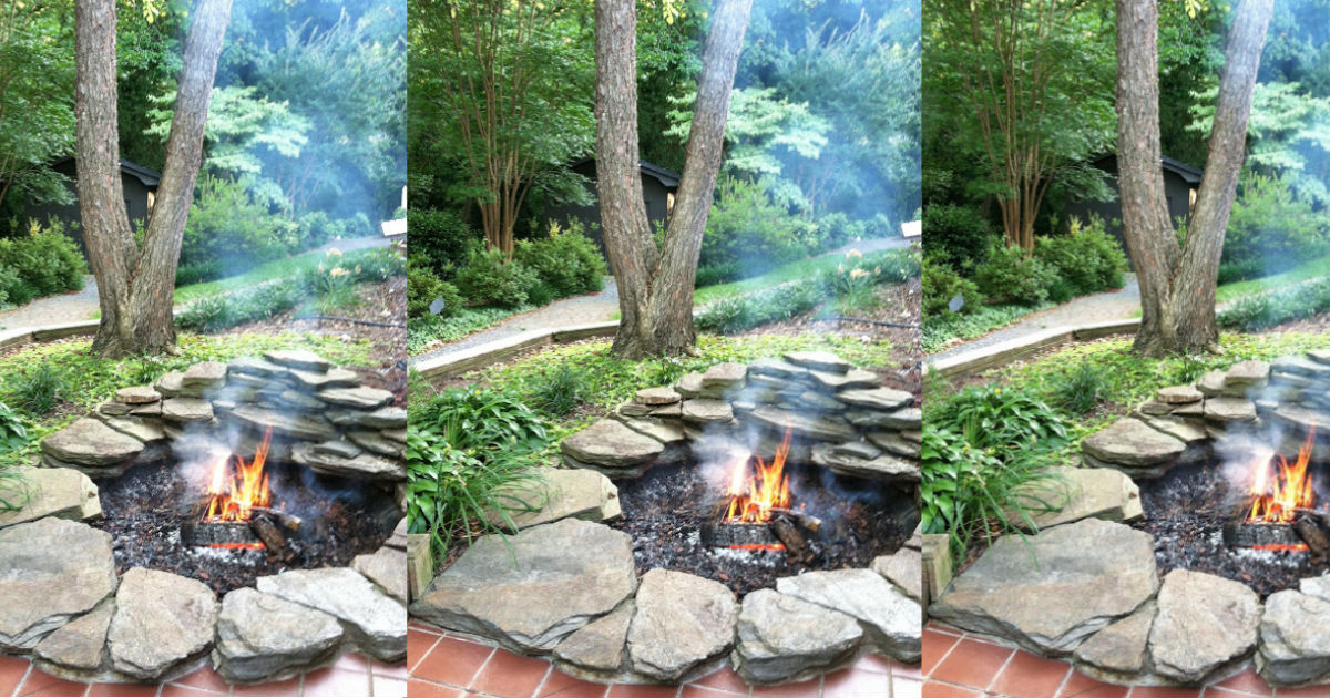 Turn your unused pond into a fire pit in a few easy steps for Turn pool into koi pond