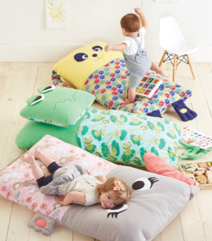 Childrens Floor Pillow Diy Sewing Instructions For Dog Frog Or Bunny