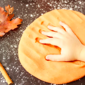 allcreated - pumpkin spice play dough