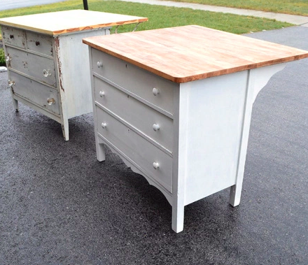 Diy Kitchen Island Upcycles Vintage Dresser Into Charming