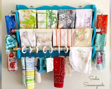 allcreated -Gun Rack to Fabric Organizer Upcycle