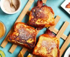 allcreated - peanut butter bacon banana french toast
