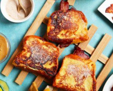 allcreated - peanut butter bacon banana french toast
