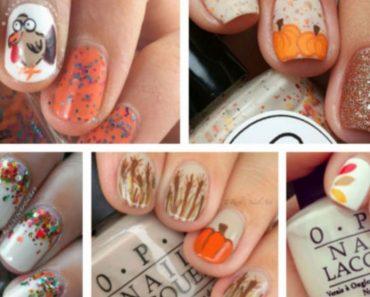 allcreated - thanksgiving nail art