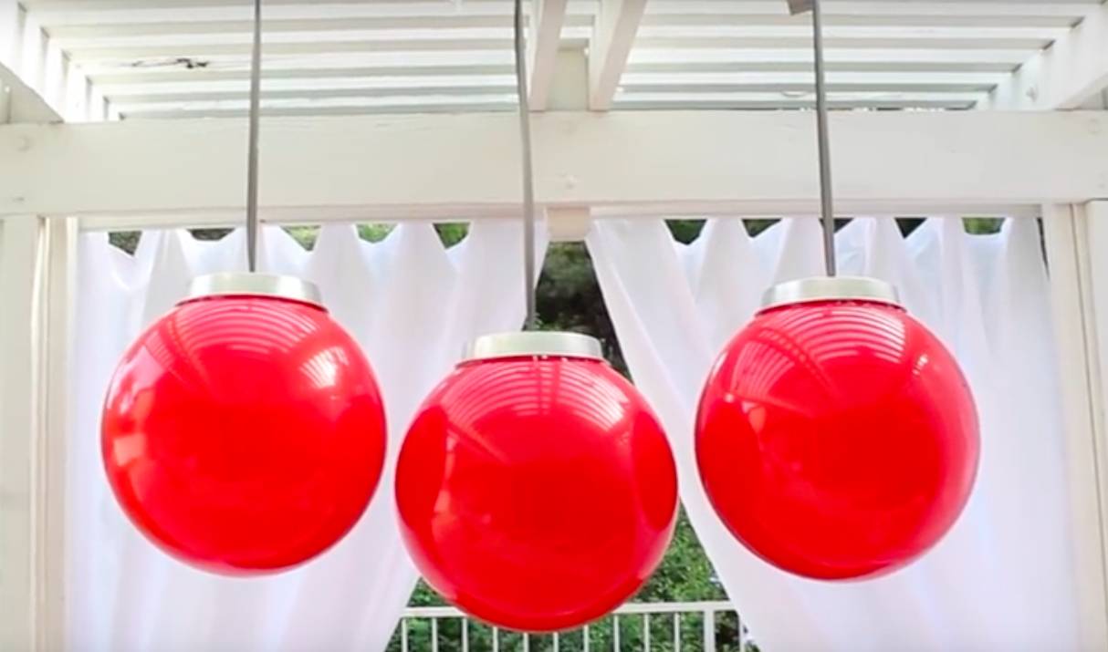 Diy Giant Ornaments Made Simply With Inexpensive Walmart Items
