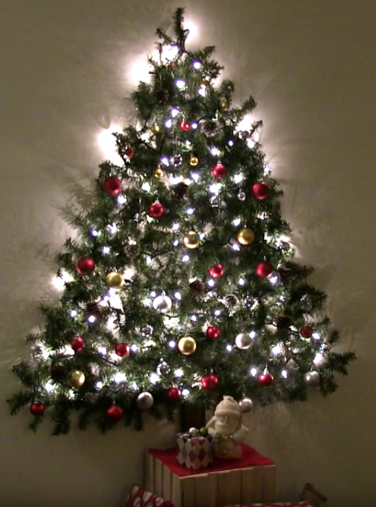 allcreated wall mounted christmas tree