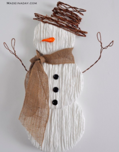 allcreated - diy yarn snowman
