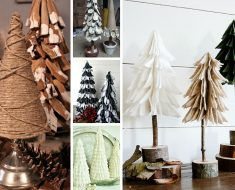 allcreated - diy tabletop christmas trees