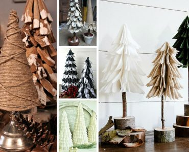 allcreated - diy tabletop christmas trees