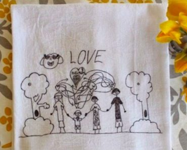 allcreated - kids' art into tea towels