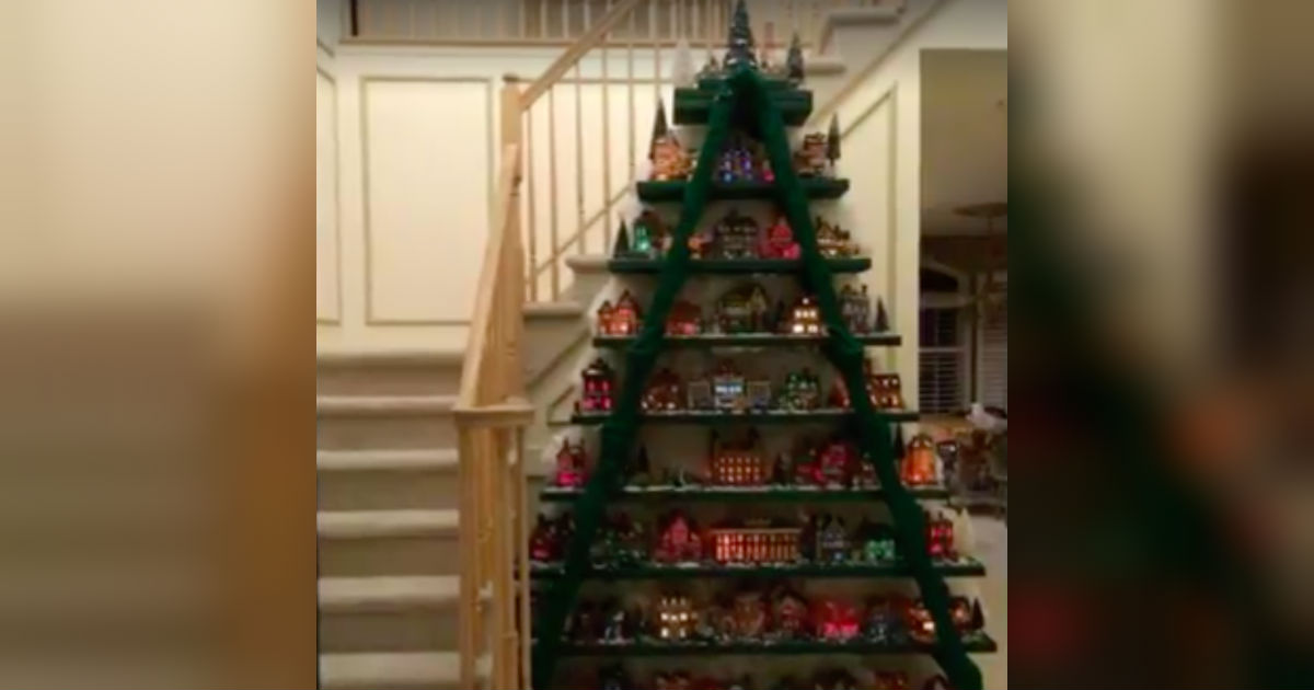 how to build a christmas tree village display