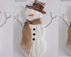 allcreated - yarn snowman