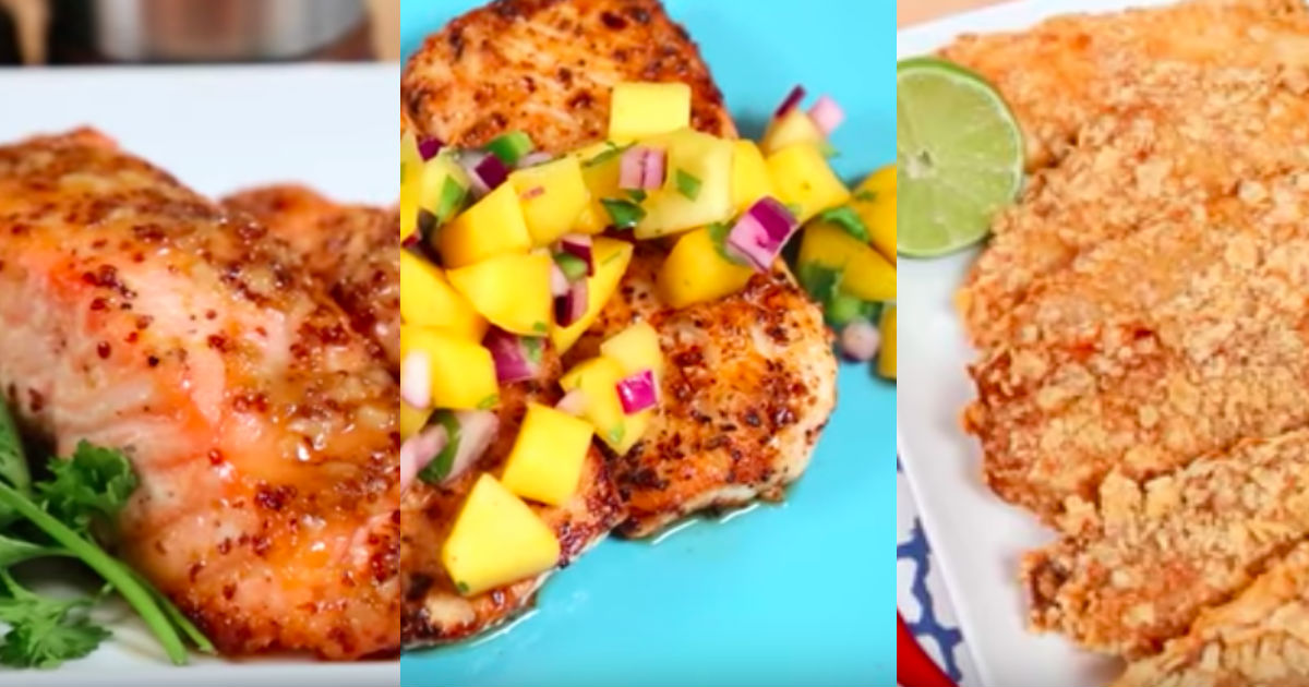 3 healthy fish recipes using different types of fish for Easy healthy fish recipes