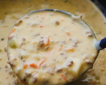 allcreated - slow cooker cheeseburger soup
