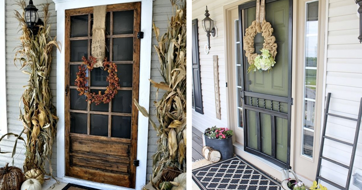 DIY Screen Door Ideas _ allcreated