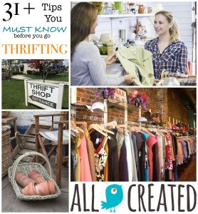 allcreated - thrift store shopping tips