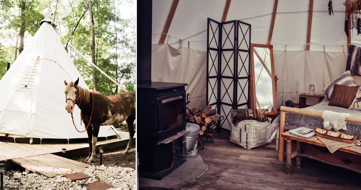 unusual airbnb homes next vacation _ airbnb _ Virginia Tipi _ allcreated